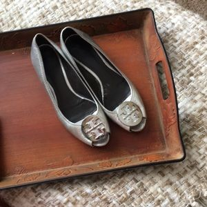 Tory Burch silver shoes